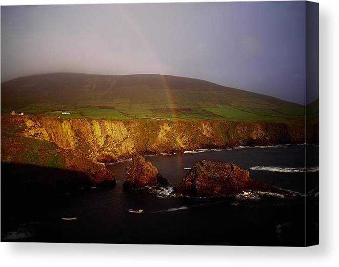 Dingle Peninsula Canvas Print featuring the photograph Dunquin Harbour, Dingle Peninsula,co by The Irish Image Collection