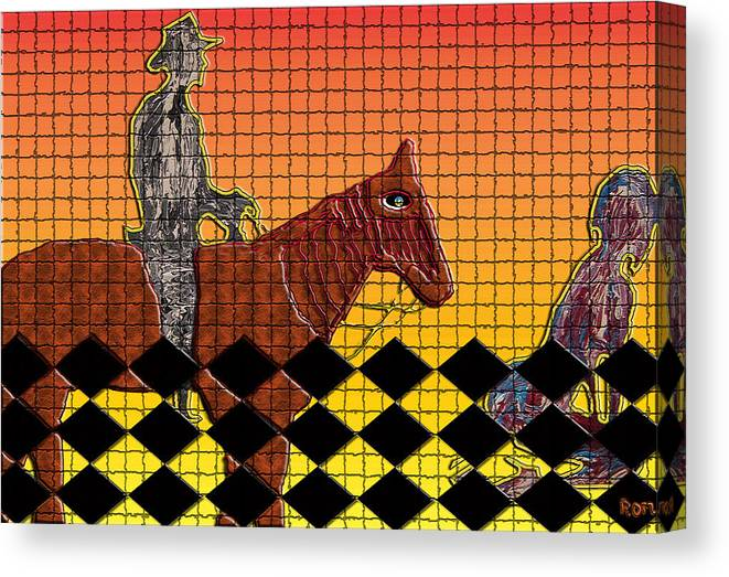 Horse Canvas Print featuring the mixed media Horse With No Name by Robert Margetts