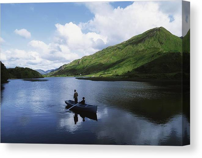 Co Galway Canvas Print featuring the photograph Kylemore Lake, Co Galway, Ireland by The Irish Image Collection