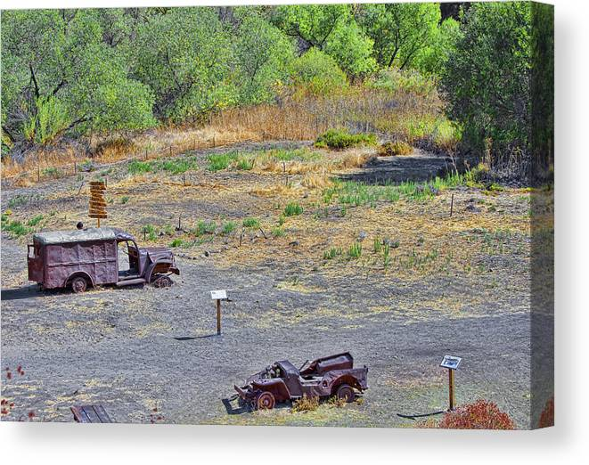 Truck Canvas Print featuring the photograph M.a.s.h Property 2 by Jason Abando