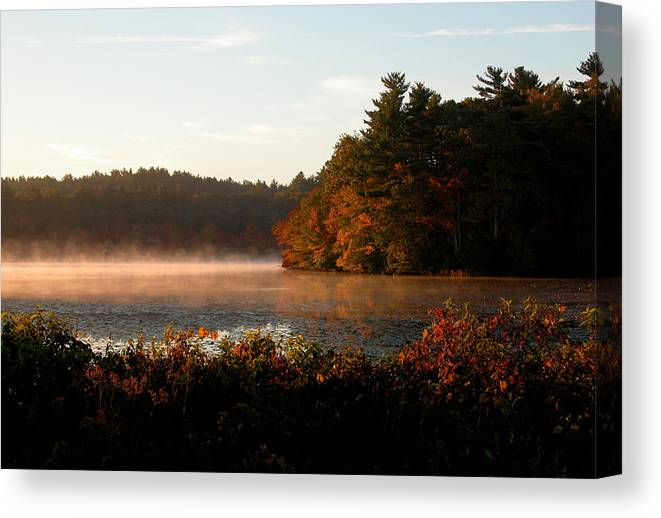 Massachusetts Canvas Print featuring the photograph Morning Lake by Kenneth Drylie