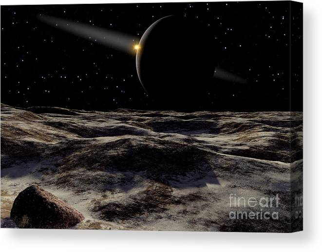 Pluto Seen From The Surface Canvas Print