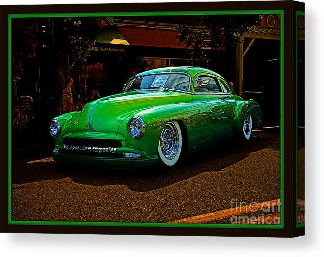 Old Cars Canvas Print featuring the photograph The Green Machine by Randy Harris