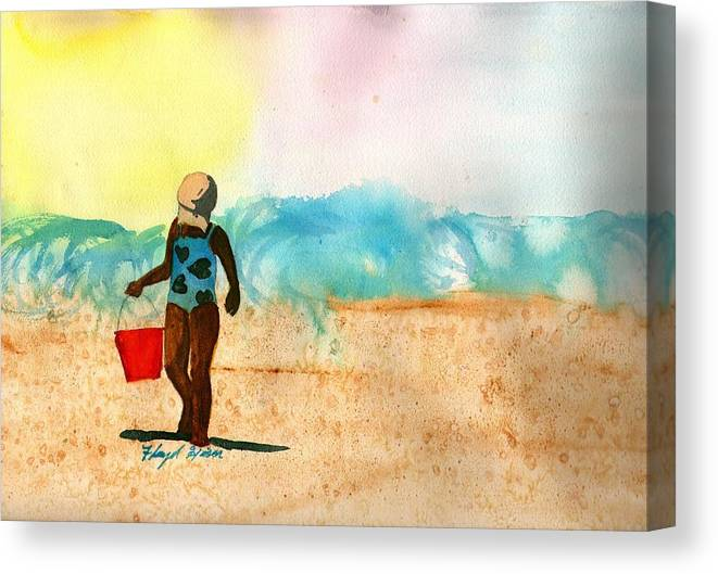 Floyd Hiser Canvas Print featuring the painting Too Much Sun by Floyd Hiser