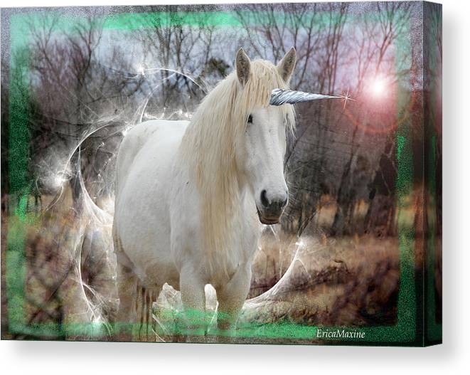 Horse Canvas Print featuring the photograph Unicorn by Ericamaxine Price