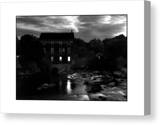 Landscape Canvas Print featuring the photograph Old Mill by Filipe N Marques