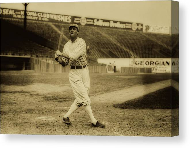 Old Photographs Canvas Print featuring the photograph Tris Speaker With Boston Red Sox 1912 by Library Of Congress