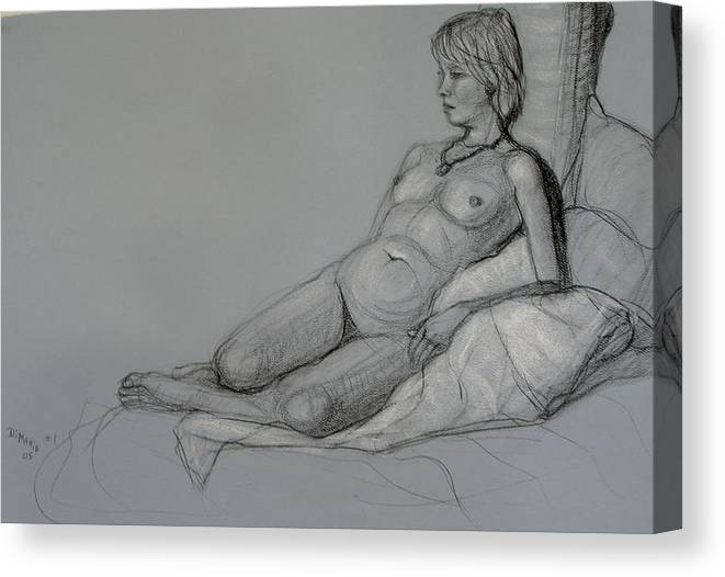 Realism Canvas Print featuring the drawing Aroona 2 by Donelli DiMaria
