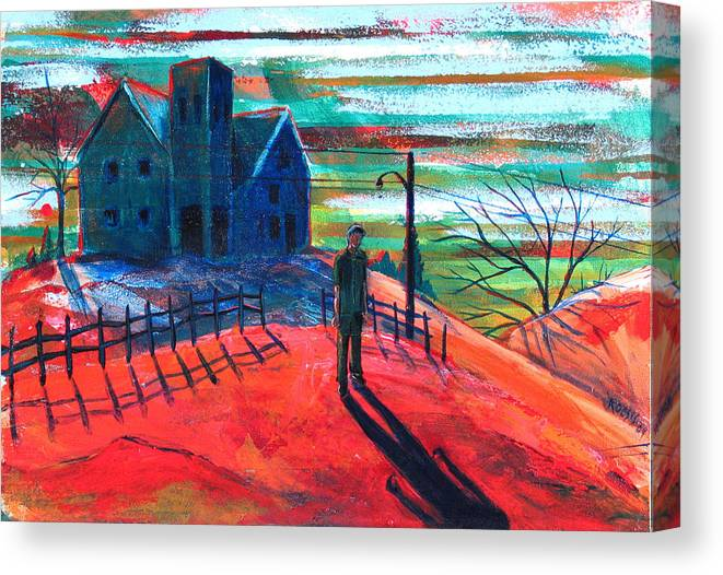 Autumn Canvas Print featuring the painting Autumn by Rollin Kocsis