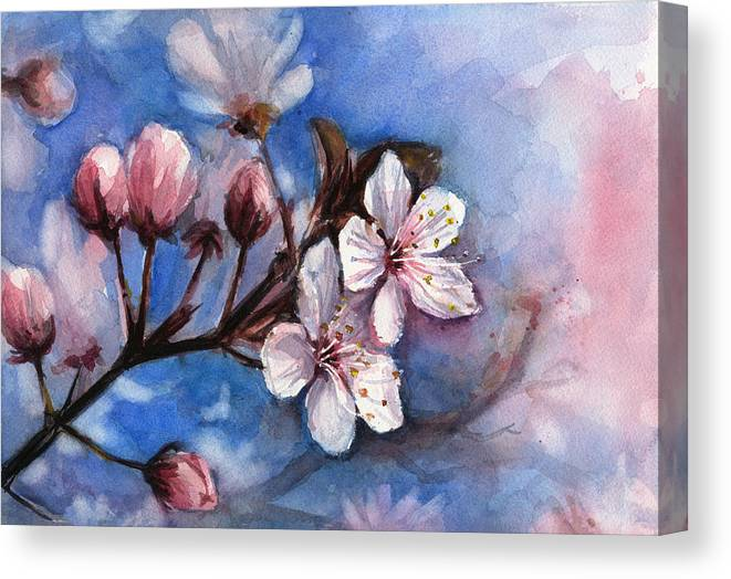 Cherry blossom paintings canvas prints and cherry blossom for Canvas painting of cherry blossoms