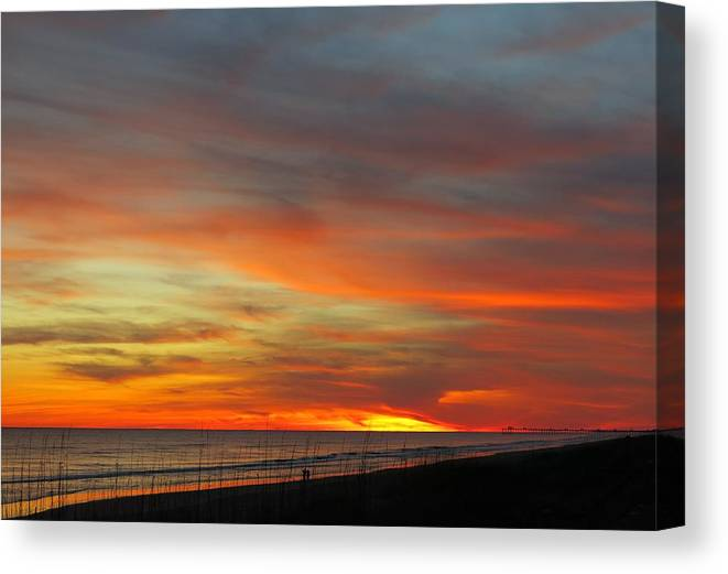 Beach Canvas Print featuring the photograph Christmas Day Sunset by Betty Buller Whitehead