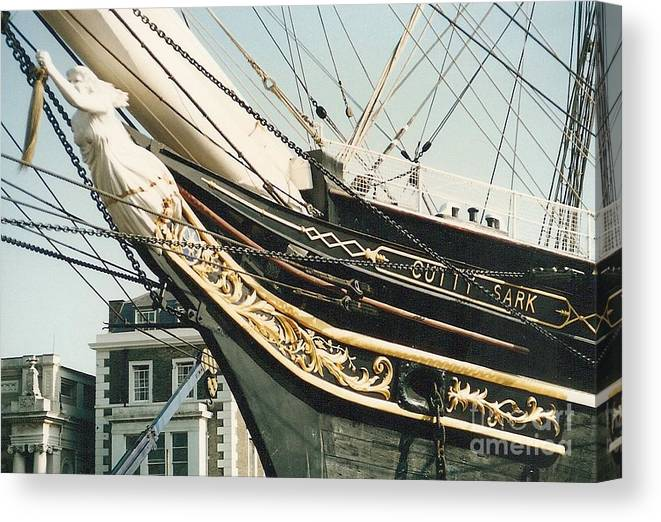 Ship Canvas Print featuring the photograph Cutty Sark by Mary Rogers