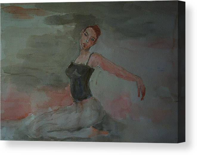 Dance Canvas Print featuring the painting Dancer by Liliana Andrei