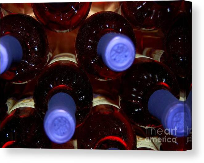 Wine Canvas Print featuring the photograph De-vine Wine by Debbi Granruth