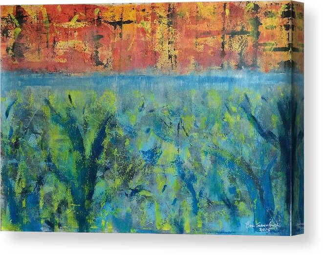 Eden Canvas Print featuring the painting Dualismo by Eve Schambach