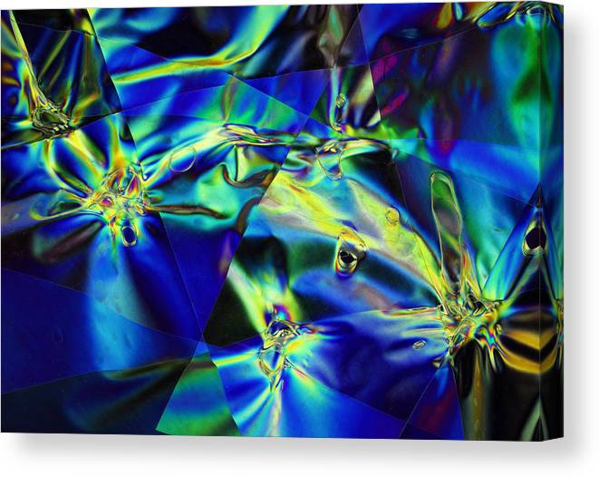 Cellophane Canvas Print featuring the photograph Electric Cellophane by Carol Berget