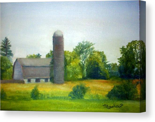 Farm Canvas Print featuring the painting Farm In The Pine Barrens by Sheila Mashaw
