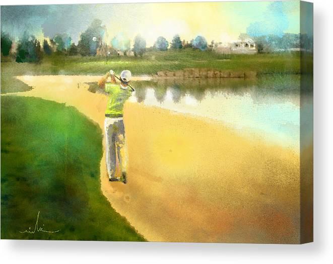 Golf Canvas Print featuring the painting Golf In Club Fontana Austria 02 by Miki De Goodaboom