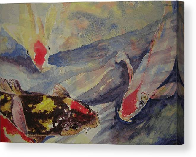 Watercolor Canvas Print featuring the painting Hi There by Colleen Koranek