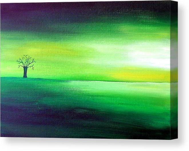 Landscape Canvas Print featuring the painting Hope Too by Aoife Joyce