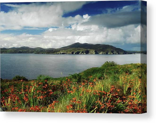 Cloud Canvas Print featuring the photograph Inishowen Peninsula, Co Donegal by The Irish Image Collection