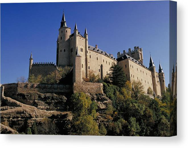 Royal Canvas Print featuring the photograph Isabella's Castle In Segovia by Carl Purcell