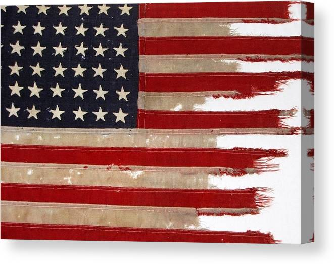 Flag Canvas Print featuring the photograph Jfk's Pt-109 Flag by Lori Pessin Lafargue