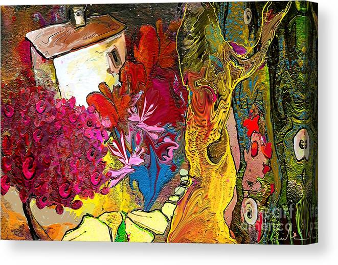 Landscape Painting Canvas Print featuring the painting La Provence 15 by Miki De Goodaboom