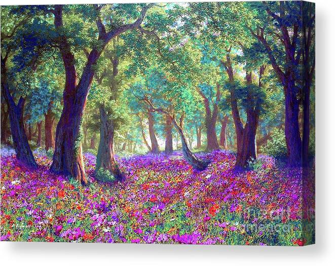 Sun Canvas Print featuring the painting Morning Dew by Jane Small