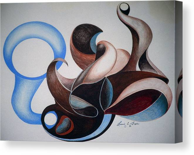Stylized Canvas Print featuring the drawing Music Boxed by Lonnie Tapia