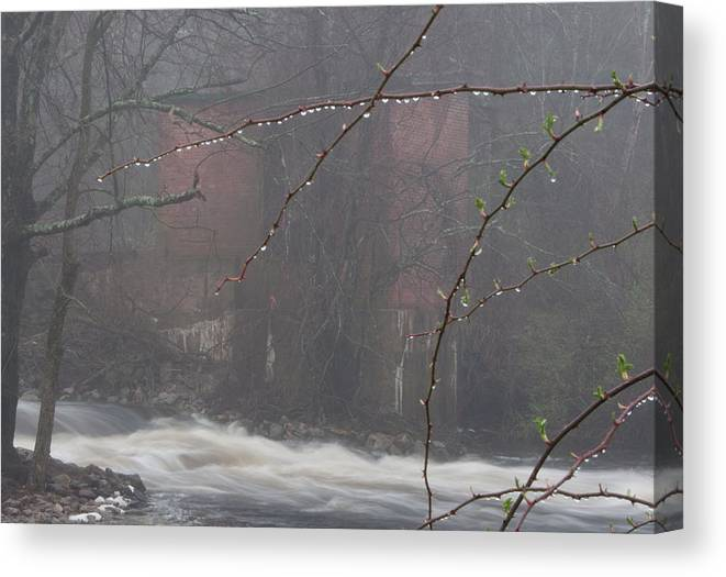 Photography Canvas Print featuring the photograph Old Mill by Steven Natanson