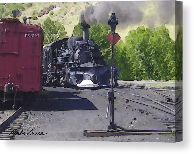 Railroad Canvas Print featuring the photograph Old No. 478 by Marla Louise