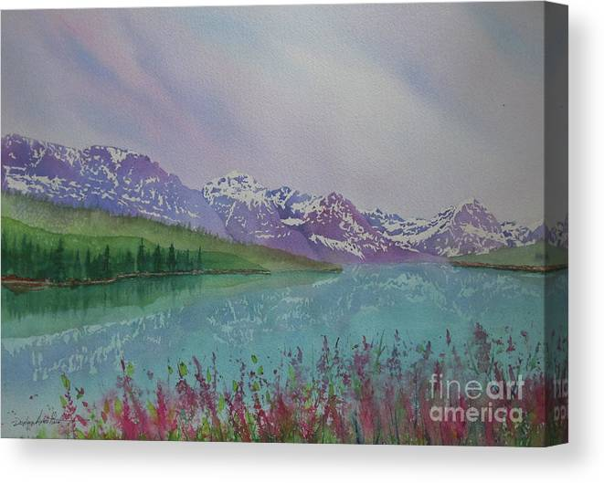 Reflection Canvas Print featuring the painting Peaceful Easy Feeling by Donlyn Arbuthnot