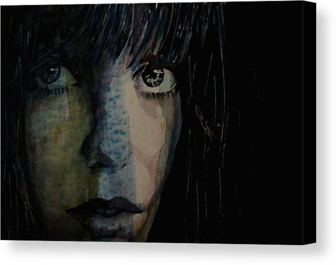Jane Birkin Canvas Print featuring the painting Periode Bleue by Paul Lovering
