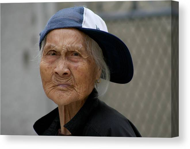 Woman Canvas Print featuring the photograph Rappin' Granny by Jason Hochman