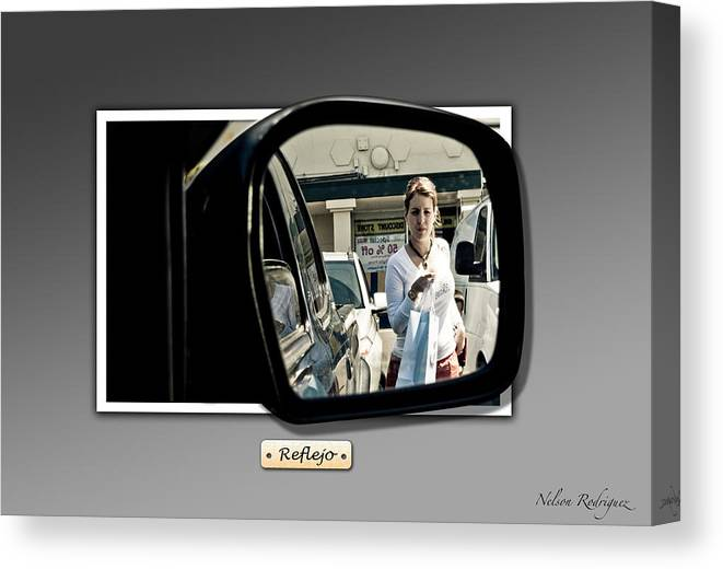 Photo Canvas Print featuring the digital art Reflection by Nelson Rodriguez