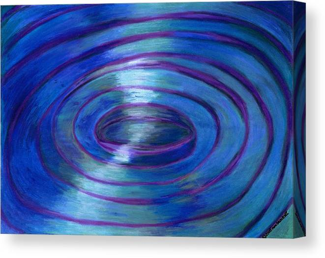 Watercolor Crayon Canvas Print featuring the painting Ripples by Nancy Brockett