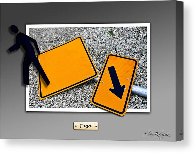 Photo Canvas Print featuring the photograph Running Away by Nelson Rodriguez