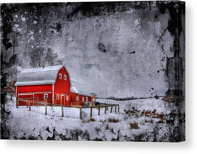Barn Canvas Print featuring the photograph Rural Textures by Evelina Kremsdorf