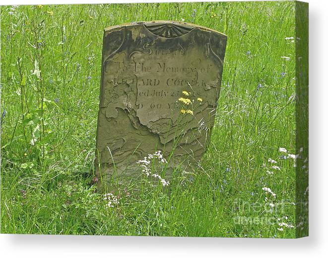 Tombstone Canvas Print featuring the photograph Sacred Memory by Ann Horn