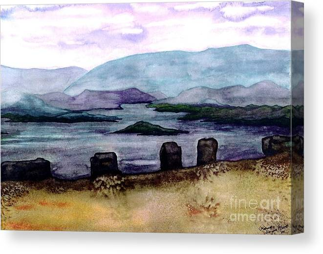 Original Painting Canvas Print featuring the painting Silent Sentinels by Patricia Griffin Brett