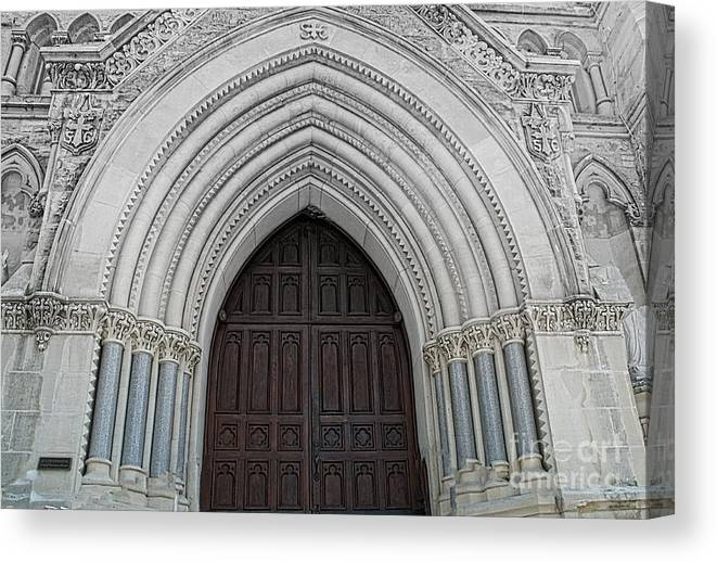 Saint Mary Cathedral Canvas Print featuring the photograph St. Mary Cathedral- Austin Texas by Luther Fine Art