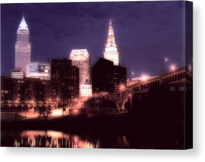 Cleveland Canvas Print featuring the photograph Standing Tall by Kenneth Krolikowski