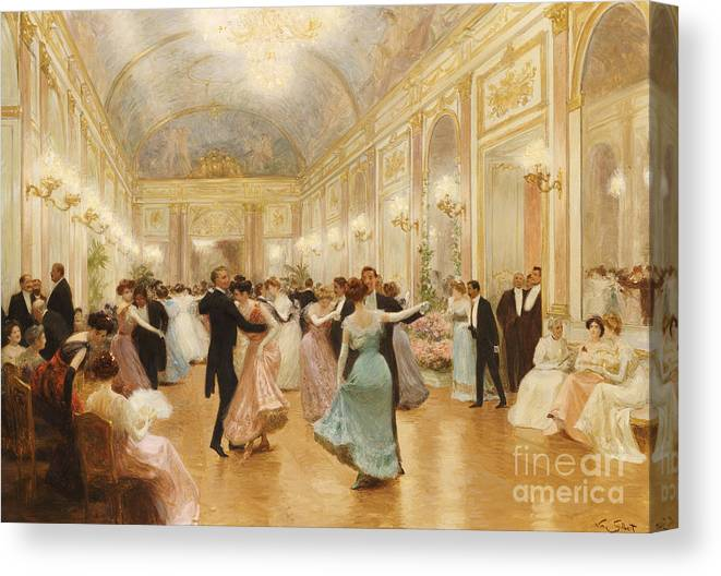 Ball Canvas Print featuring the painting The Ball by Victor Gabriel Gilbert