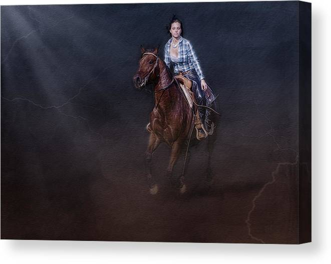 Animals Canvas Print featuring the photograph The Great Escape by Susan Candelario