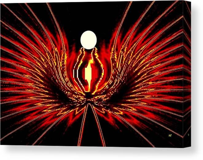 Abstract Canvas Print featuring the digital art The Lost Pearl by Will Borden