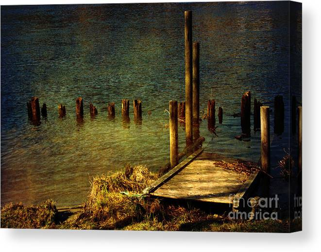 Festblues Canvas Print featuring the photograph The Magic Hour.. by Nina Stavlund