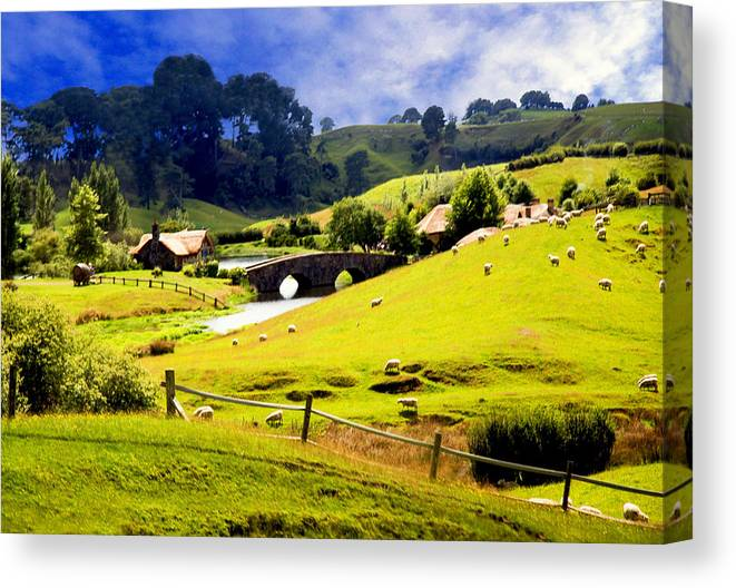 The Shire Canvas Print featuring the photograph The Shire by Kathryn McBride