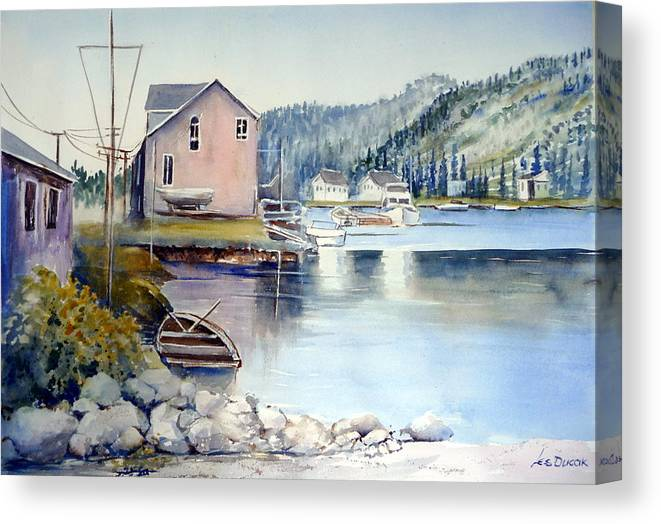 Bay Canvas Print featuring the painting Trinity Bay Nfld by Les Ducak