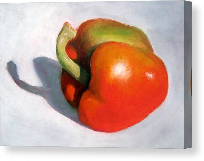 Pepper Canvas Print featuring the pastel Turning Green by Joyce Geleynse